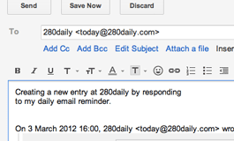 Email new entries